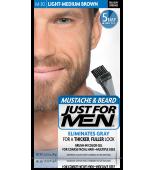 JUST FOR MEN - Farbe für das Barthaar in Gelform: Leicht mittelbraun M30