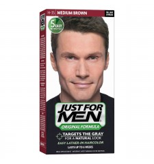 JUST FOR MEN - Haarfarbe in Shampooform: Mittelbraun H35