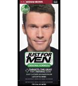 JUST FOR MEN - Haarfarbe in Shampooform: Mittelbraun H35
