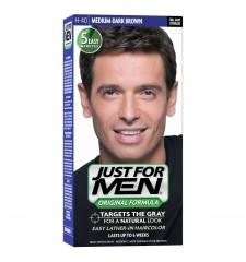 JUST FOR MEN - Haarfarbe in Shampooform: Mittel- bis dunkelbraun H40