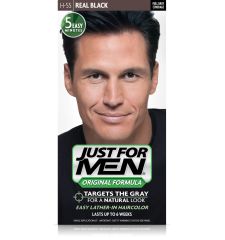 JUST FOR MEN - Haarfarbe in Shampooform: Schwarz H55